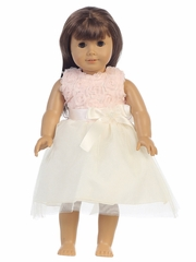 Peach Chiffon Tulle 18� Doll Dress