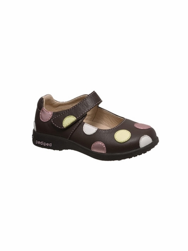 Pediped - Giselle Chocolate Brown Leather Mary Janes