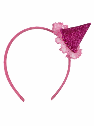 Perfect Party Fuchsia Glitter Headband