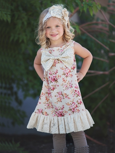 Persnickety A Pocket Full Of Posies Ivory Henrietta Dress