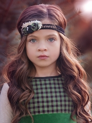 Persnickety Green & Black Garland Headband
