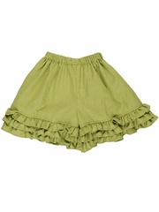 Persnickety Green Felicity Ruffle Short