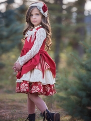 Persnickety Red Ellie Pintuck Dress