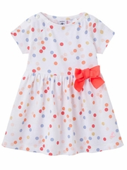 Petit Bateau Dot Print Dress w/ Bow