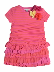 Petit Lem Baby Marmelade Fuchsia Drop Waist Dress