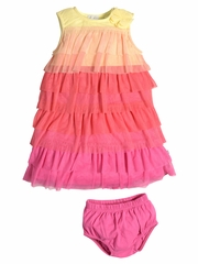 Petit Lem Baby Marmelade Ruffle Dress Set