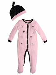 Petit Lem Ballerina Sleeper w/ Knit Hat