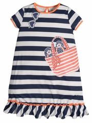 Petit Lem Beach Stripe Pajama Dress