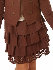 Petit Lem �From Russia with Love� Chocolate Ruffle Skirt