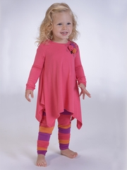 Petit Lem Hot Pink Tunic & Legging Knit Set
