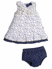 Petit Lem Navy Chic Floral 2PC Set
