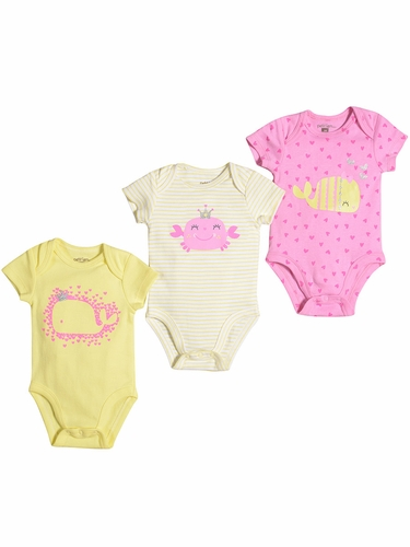 Petit Lem Princess Of The Ocean Baby Whale Onesie Set