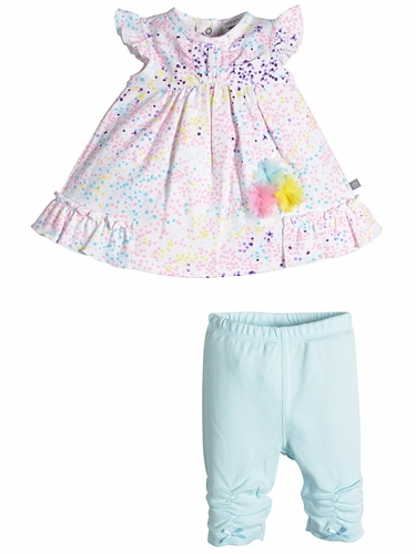 Petit Lem Rainbow Dots Top & Pant Set