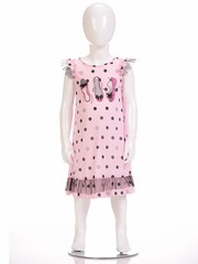 "Petit Lem Sleep ""Ballet Shoe"" Dot Pajama Dress"