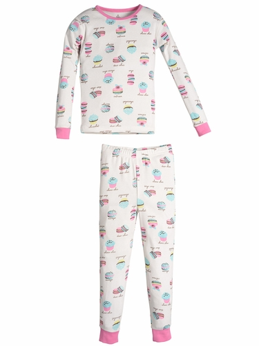 Petit Lem Sleep Macaroon Top & Pants Set
