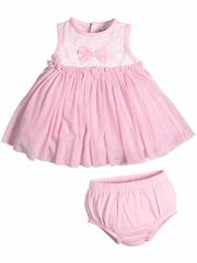 Petit Lem Sparkling Roses Pink Dress Set