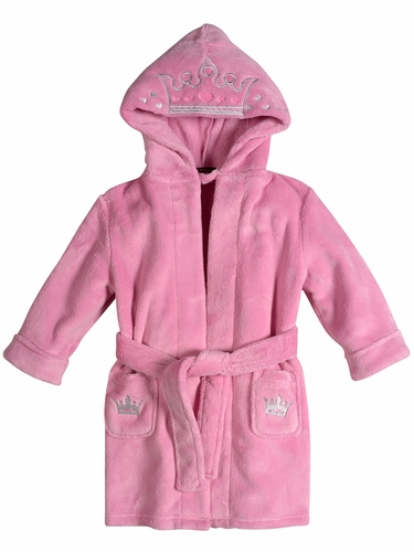 Petit Lem Wild Majesty Pink Crown Hooded Robe