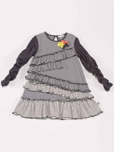 Petit Lem �Wild Revolution� Tent Dress w/ Ruffle Detail