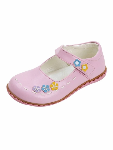 Pink Floral Stitched Shoes