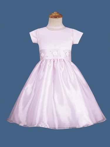 Pink Flower Girl Dress - Rosebud Pearl Dress