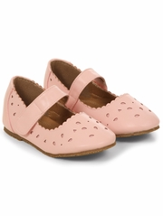Pink Geometric Cut Out Mary Jane Flats