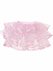 Pink Glitter Layered Tutu Skirt