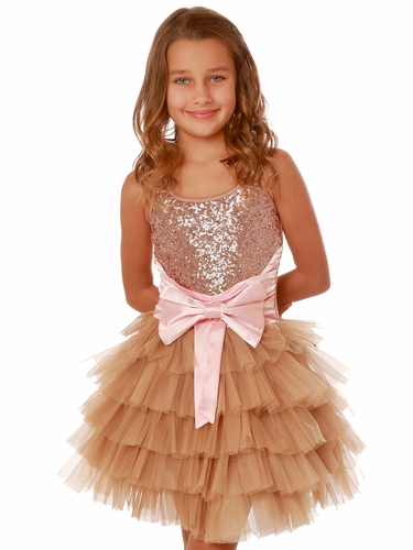Pink/Gold Ooh! La La! Couture WOW Anneliese Dress