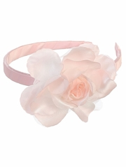Pink Headband w/ Large Flower