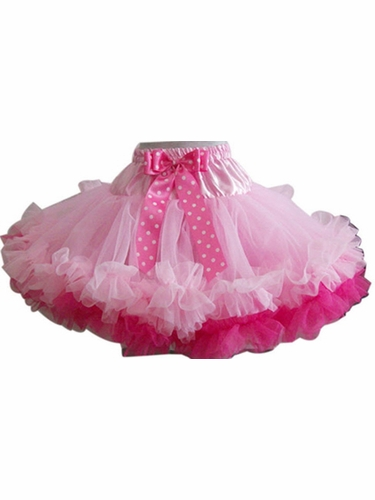 Pink & Hot Pink Dotted Pettiskirt