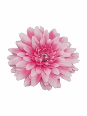 Pink Large Gerber Daisy Flower on Clip