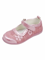 Pink Metallic Flowers Shoes
