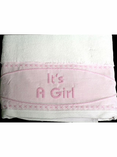 Pink Nursery Bath Towel