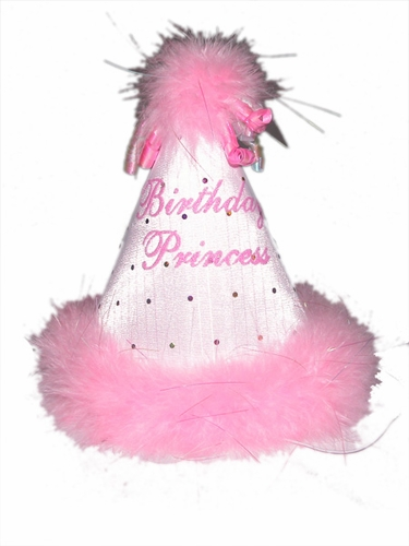 Pink Princess Birthday Hat