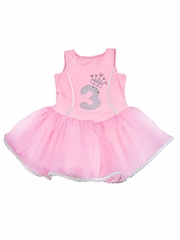 Pink Princess Birthday Tutu Dress w/ Sparkle Number Appliqu�