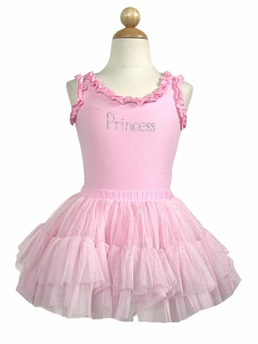 Pink Princess Ruffle Tank Top &  Tutu