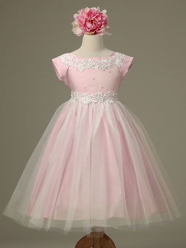 Pink Princess Tulle Dress w/ Cap Sleeves