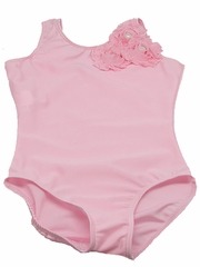 Pink Shabby Rose Tank Leotard