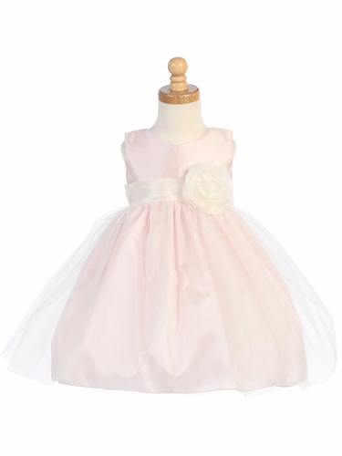 Pink Shantung Bodice w/ Tulle