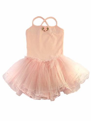 Pink Spaghetti Strap Tutu Dress
