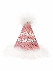 Pink Sparkle 'Birthday Princess' Party Hat