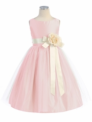 Pink Vintage Satin Tulle Dress