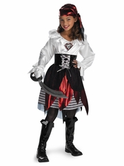 Pirate Lass Girls Costume