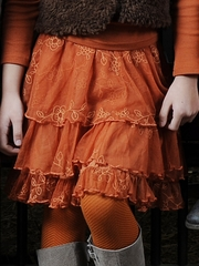 Pom Pom Bebel Orange Skirt