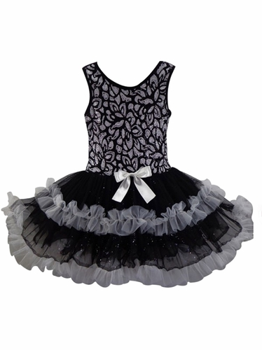 Popatu Black Ruffle Petti Dress