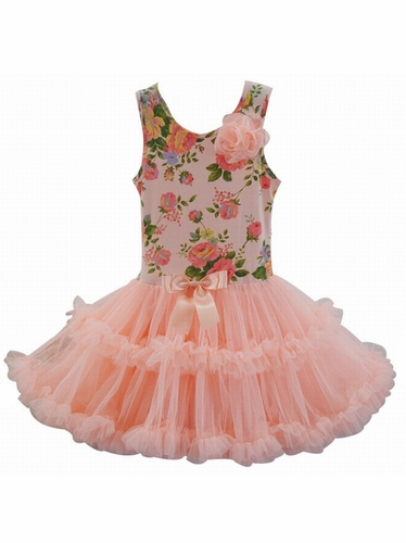 Popatu Peach Rose Petti Dress