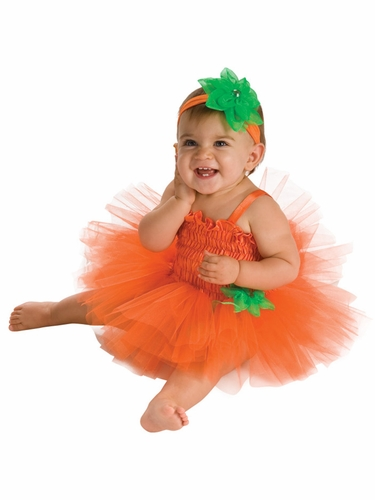 Pumpkin Tutu Dress Set w/ Headband