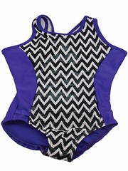Purple Chevron Tank Leotard