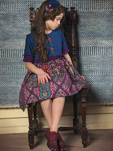 Purple Persnickety World Market Maggie Dress