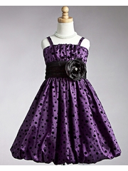 Purple Polka Dot Bubble Dress