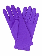 Purple Short Satin Gloves
